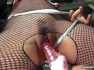 Ninjas Torture The Poor Girl With A Sex Toy And Finger Tease