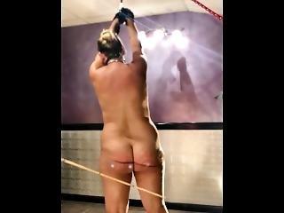 Slave Kandy Punishment Whipped / Caned Hard - Shaking And Crying