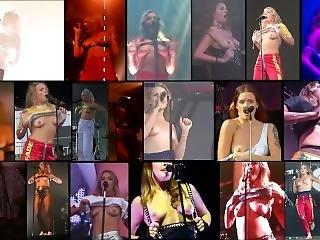 Bröst, Kändis, Samling, Blottning, Party, Offentligt, Små Tuttar, Solo