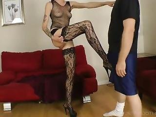 Sensual Ballbusting By Tall Brunette
