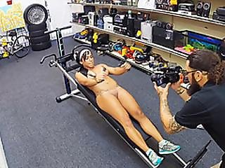 Extremely Hot Gym Instructor Get Her Restricted Vaginal Area Attached By A Huge Dick