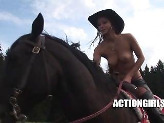 Kristina Walker - Nude Horse Ride