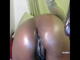 Ebony Babe Masturbate Her Creamy Juicy Pussy At 6hookup.com