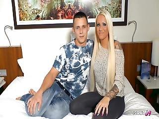 Nervous Virgin Boy, Defloration Sex With German Tight Tini