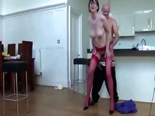 Mature Wearing Heels Bumps On Cock