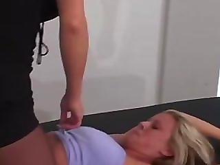 Liz Gets More Tickling! - Mf/f, Hot Blonde Tricked!