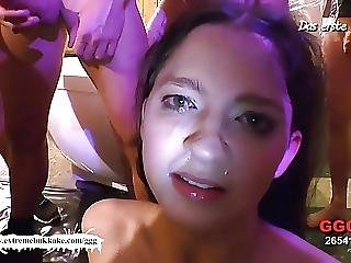 Sexy Teen Nicole Gets Her Pretty Face Cum Covered