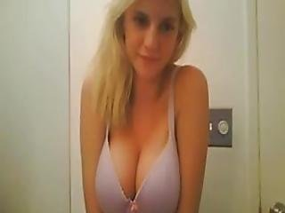 Hot Blonde Webcam Girl Perfect Tits