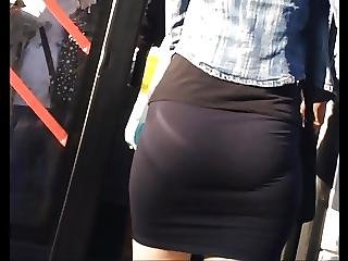 Beatiful Ass In Mini Skirt