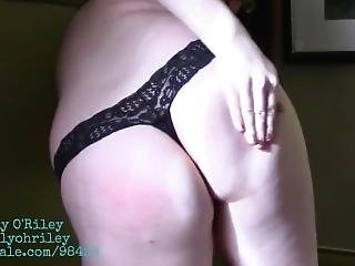 Cute Redhead Gives Herself Birthday Spankings