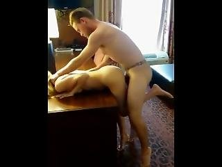 Busty Babe Fucking Her Boss In The Office