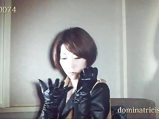 Leather Glove Loving Woman