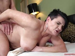 Horny Grandma Fucked By A Stud