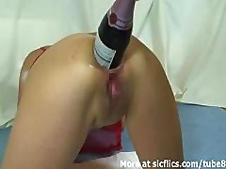 Amateur, Anal, Anus, Ass, Ass Fuck, Bottle, Champagne, Dildo, Extreme, Fisting, Fucking, Gaping Hole, Object Insertion, Wife