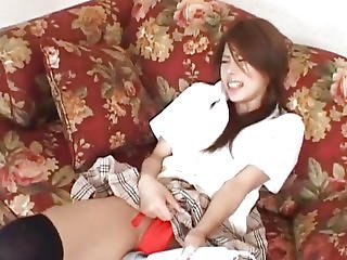 Haruka Sanada Is Aroused With Vibrator And Rides Sucked Phallus