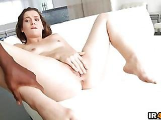 Small Tit Brunette Babe Get Her Hairy Pussy Fucked By A Hard Black Dick