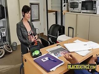 cull, bellissima, grande cazzo nero, nera, capelli corti