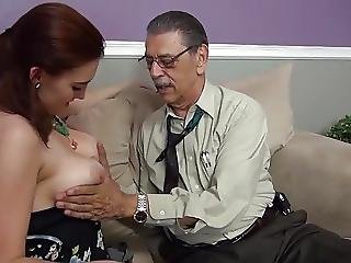 Blowjob, Brunette, Firsttime, Fucking, Old, Older Man, Teen, Young