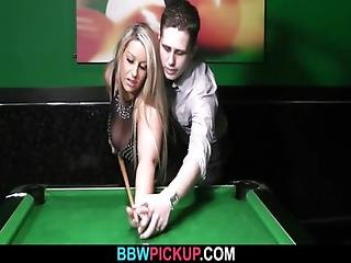 He Seduces Chubby Hottie On The Pool Table