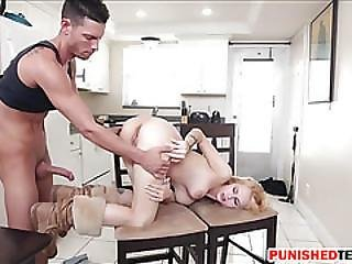 Lovely Teen Blonde Bitch Lilli Dixon Hammered By Huge Cock