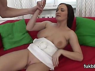 Nasty Peach Gapes Her Cunt And Loves Hardcore Sex