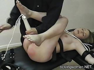 Tied Up Girl Cums 3 Times With Hitachi (contractions)