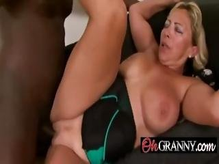 White Pussy Pounded With Black Dick