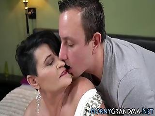 Busty Grandma Gets Cum Facialized After Sucking And Fucking