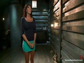 Alia Janine Gets Her Massive Milf Tits Fucked In Bondage