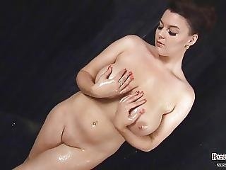Big Boob, Boob, British, Masturbation, Shower
