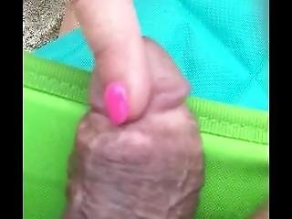 Katherine Brown Pissing At The Nude Beach And Playing With A Cock
