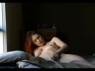 Teen Redhead Humping Her Pillow To Orgasms Before To Going To Bed
