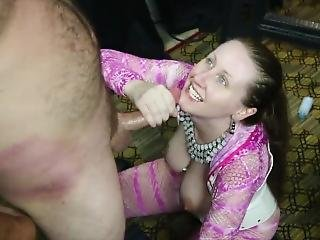 White Trash Couple Gets Spun Then Gets Nasty In The Garage
