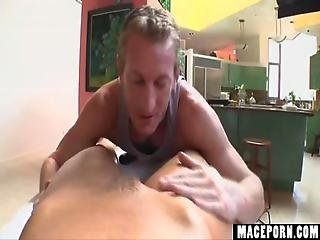 Mature Guy Get Blowjob From Hot Blonde Girl On Top Of Pool Table