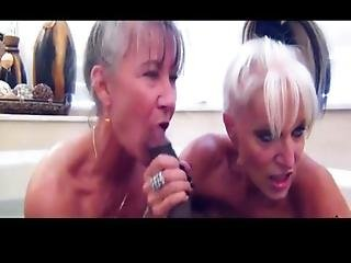 Two Filthy Grannies Get Clean While Getting Dirty