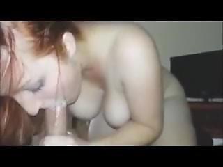 Redhead Sucks Till Cum