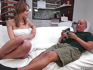 A Older Man Dips His Old Penis Into Some Taut,threatening Legal Age Teenager Snatch