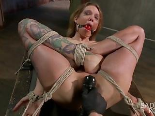 Hot Blonde Suffers Through An Extreme Beating While In Tight Bondage.