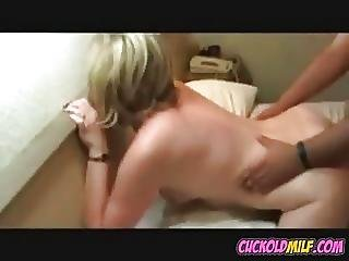 Cuckold Milf Watched By Her Sissy Husband Fucking Bbc Bull