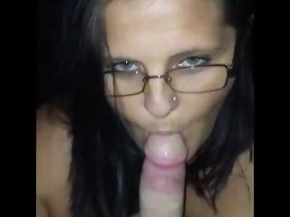 Hot Milf In Glasses Showing Eyes While Sucking My Cock Good Pov