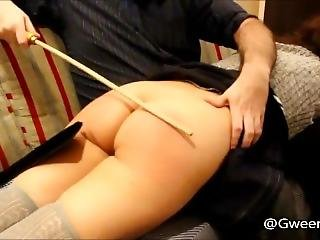 Cumming From Spanking And Canning!.