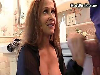 Mommy Hotwiferio Sucks On Her Sons Cock And Eats His Cum