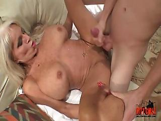 Young Guy Slams His Young Cock To Mature Milf Sally D Angelo