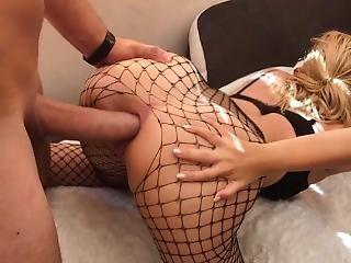 amatør, anal, rompe, stor rompe, par, krem, creampie, kukk, fantasi, fiskenett, stor kukk, grovt, sex, stramt, stram rumpe