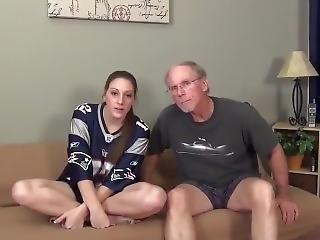 Lucky 80yo Grandpa Fucks Shameless Teen With Hot Body