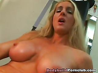 Stunning Blonde Whore Fucked In The Gym