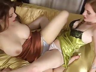 satin Lesbians panties silk and in