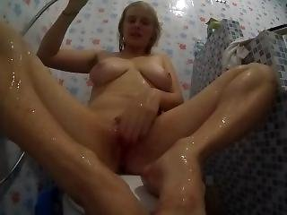 Crosslegs Masturbation - Orgasm - Russian Blonde Teen Fingering & Pissing