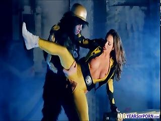 Busty Yellow Ranger Abigail Mac Roughly Fucked By The Enemy