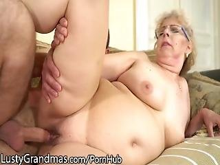 Lustygrandmas Bbw Gilf Cleans His Office And His Cock%21